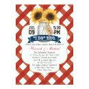 I Do BBQ Sunflower Mason Jar Couples Shower Invitations