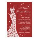 Lacy Red Winter Bridal Shower