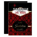 Las Vegas in Red Damask | Party Invitation