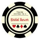 Las Vegas Poker Chip Black Off White Bridal Shower