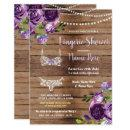 Lingerie Shower Wood Purple Flowers