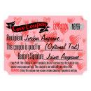 Love Coupon for BLANK Invitation