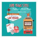 Love Vegas Style Teal Bridal Shower Invitations