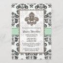 Mint Green Fleur de Lis Bridal Shower