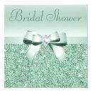 Mint Green Sequins, Bow & Diamond Bridal Shower