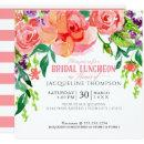 Modern Bridal Luncheon Floral Coral Pink Roses
