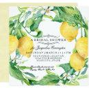 Modern Lemon Floral Flower Wreath Bridal Shower