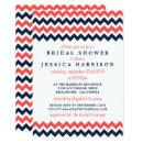 Modern Navy & Coral Chevron Bridal Shower