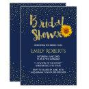 Modern Sunflower Bridal Shower Navy Blue