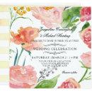 Modern Watercolor Floral Rose Wild Flower Wedding