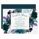 Moody Boho | Teal Purple Dark Floral Couple Shower
