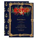 Nautical Navy Christmas Bridal Shower Poinsettia