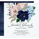 Navy Blue and Blush Flowers Bridal Brunch