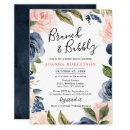 Navy Blue Blush Pink Rose Boho Bridal Shower