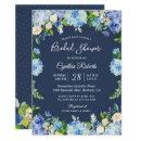 Navy Blue Hydrangea Floral Gorgeous Bridal Shower