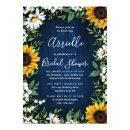 Navy Blue Sunflower Rustic Country Bridal Shower