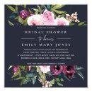 NAVY BLUSH BURGUNDY FLORAL BUNCH BRIDAL SHOWER