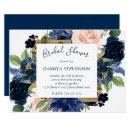 Navy Blush Floral | Elegant Wreath Bridal Shower