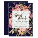 navy boho wild flower bridal shower