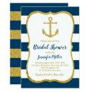 Navy & Gold Nautical Anchor Bridal Shower