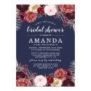 Navy Marsala Peony Fall Bridal Shower