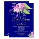 Navy plum summer floral watercolor bridal shower