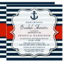 Navy Stripe Nautical Anchor Bridal Shower