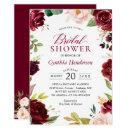 New! Beautiful Blush Burgundy Floral Bridal Shower