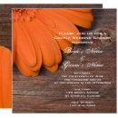 Orange Daisy and Barn Wood Couples Wedding Shower