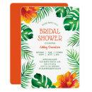 Orange Hibiscus and Tropical Leaves Bridal Shower