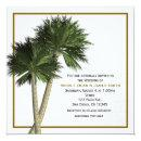 Palm Trees White & Gold Elegant Wedding