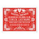 Papel picado love birds red wedding bridal shower