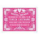 Papel picado lovebirds pink wedding bridal shower