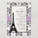 Parisian Lilac and Black Bridal Shower