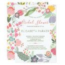Pastel wreath of meadow blooms bridal shower