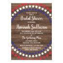 Patriotic Stars Rustic 4th of July Bridal Shower