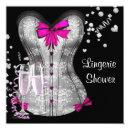 Pink Black Corset Lingerie Bridal Shower