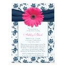 Pink Gerber Navy Damask Bridal Shower