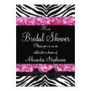 Pink Glitter Zebra Bow Bridal Shower