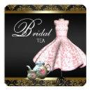 Pink Gold and Black Damask Bridal Tea Party