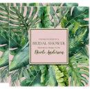 Pink & Green Tropical Leaves Bridal Shower