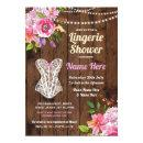 Pink Lingerie Shower Wood Flowers