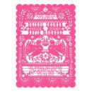 Pink Mexican Fantail Doves Papel Picado Shower
