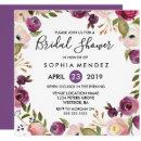 Pretty Purple Pink Botanical Bridal Shower Invite