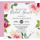 Pretty Spring Floral Bridal Shower Invite