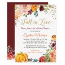 Pumpkin Fall in Love Fall Floral Bridal Shower