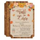 Pumpkin Rustic Leaves Wood Baby Shower
