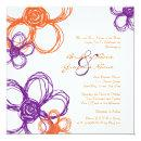 Purple and Orange Wild Flowers Wedding