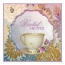 purple floral Bridal Shower Tea Party