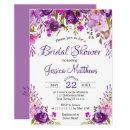 Purple Floral Romantic Bridal Shower
